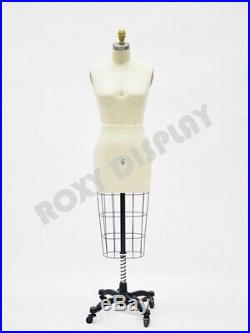 None-Collapsible Shoulder Female Pro Working Dress Form Half Size 6 #ST-SIZE6NC