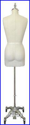 PGM Dress Form withCollapsible Shoulder/Adjustable Height Sz 4 Sewing Mannequin