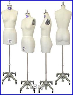 PGM Professional Dress Form Half Body with collapsible shoulders size 8