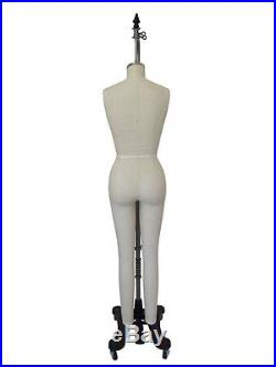 PGM Professional Full Body Female Dress Form w Collapsible Shoulder Size 12