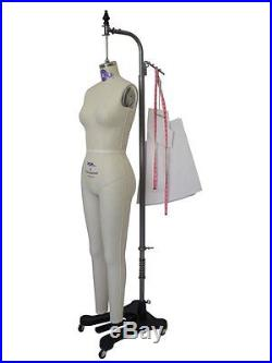 PGM Professional Full Body Female Dress Form w Collapsible Shoulder Size 2