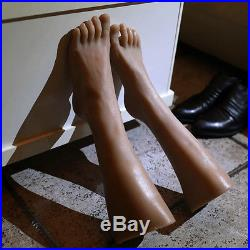 Pair Silicone Feet Model Boy Junior Foot Mannequin For Medical Photography Model