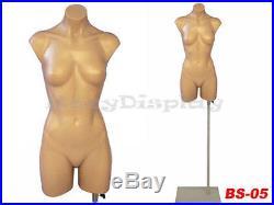 Plastic Half Body Torso Mannequin Manikin Torso Form PS-P907F+Base BS05