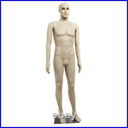 Plastic Male Dummy Mannequin Manikin Dress form Display Clothing Shoot Full Body