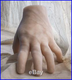 Pose-able Pare Silicone Male Mannequin Hands Display Model Prop Large