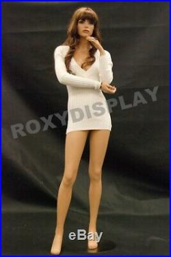 Pretty Face Female Fiberglass mannequin Fleshtone Dress Form Display #MD-FR10