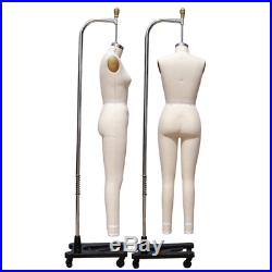 Pro Female Full Body Dress Form with Legs and Collapsible Shoulders Size 6