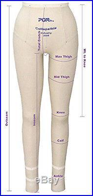 Professional Female Full Body Dress Form w Collapsible Shoulder Dress Form SZ 8
