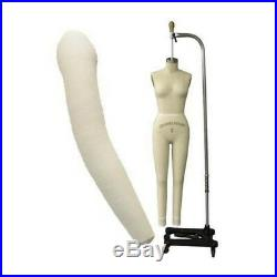 Professional Female Full Body Dress Form with Collapsible Shoulders + Arm(Size 10)