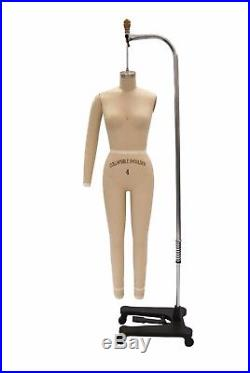 Professional Female Full Body Dress Form with Collapsible Shoulders + Arm (Size 6)