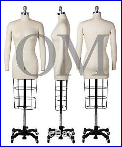 Professional Female Mannequin Dress Form, WithHeavy Base & Arms, Size 8 (ncs 8 +2)