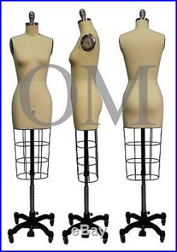 Professional Female Mannequin Dress Form, With Heavy Rolling Base, Size 0 (ncs 0)