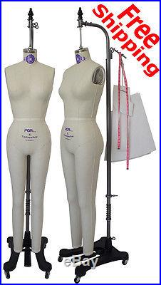 Professional Handcrafted Female Dress Form w Collapsible Shoulder