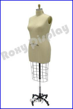 Professional Pro Female Working dress form Mannequin Half Size 16 withHip