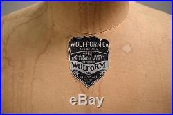 Rare 1964 Vintage Dress Wolf Form Model Size 20 Female Mannequin Raise/lower