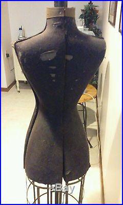 RARE Dress Form New York Dress Form Company 1880's Vintage NYC Hall-Borchert