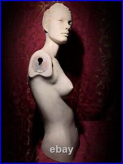 ROOTSTEIN Vintage Mannequin Female Torso Display Bust Oddity Art Creepy
