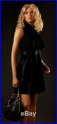Realistic Female Mannequin, Includes Wig, Made of Fiberglass (lem14)