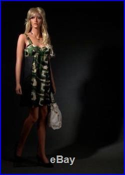 Realistic Female Mannequin, Includes Wig, Made of Fiberglass (lem23)