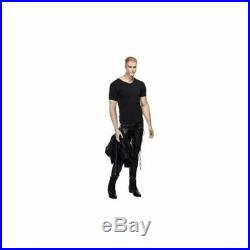 Realistic Full Body Male Mannequin with Molded Hair and Facial Features