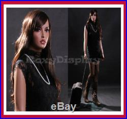 Realistic Lifesize Standing Female 33 24 35 Mannequin + Metal Base & Free Wig