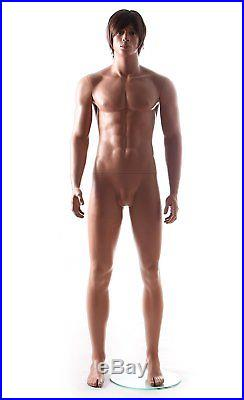 Realistic Male Mannequin, Includes Steel Base & Rods, Made of Fiberglass GM26