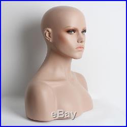 Realistic Mannequin Head Fiberglass Hat Glasses Mold Stand Torson Wig African 3