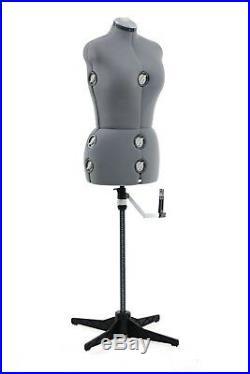 SINGER Adjustable Dress Form Mannequin Grey Size Medium/Large