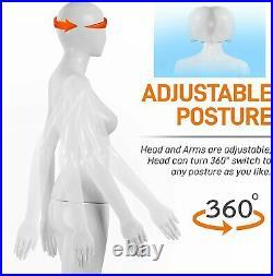 SereneLife Adjustable Female Mannequin Full Body 68.9 Detachable Female Dress