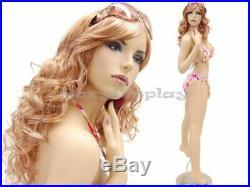 Sexy Big Bust Female Fiberglass mannequin Fleshtone Dress Form Display #MD-ACK2X