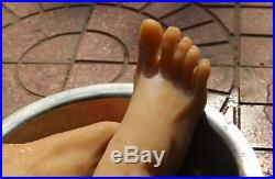 Silicone Brown Lifesize Female mannequin foot display shoes socks simple package
