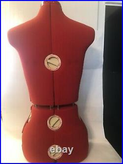 Singer 150 Dress Form 12 Dial Adjustable Mannequin Female Bust Torso