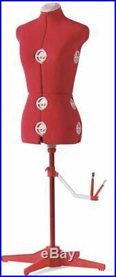 Singer Adjustable Dress Form Sized Large/Extra Large Red