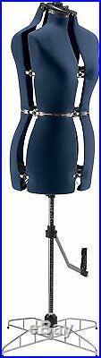 Singer Adjustable Dress Form Sized Medium/Large Blue