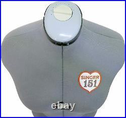 Singer Adjustable Dress Form Sized Medium/Large Fits Sizes 10-18