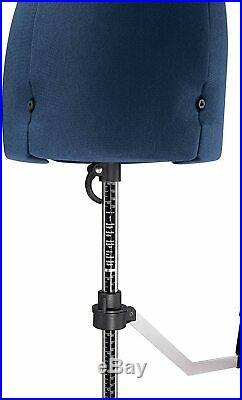 Singer Adjustable Dress Form Sized Small/Medium Blue