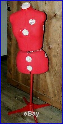 Singer Model 151 Adjustable Dress Form Mannequin Sewing Size 16 22 1/2