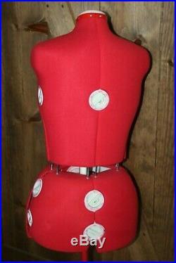 Singer Model 151 Adjustable Dress Form Mannequin Size 16 22 1/2