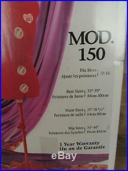 Singer Sewing Red Mod 150 Adjustable Dress Form Mannequin Size 10 to 16