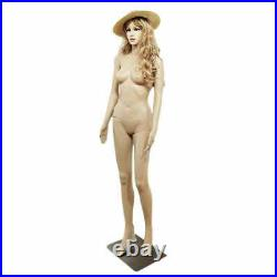 Sm Med 6' Beautiful Face Movable Female Full Body Realistic Mannequin Display