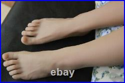 Top Quality Silicone Male Mannequin Legs Feet Shoes /Socks Display Wheat Color