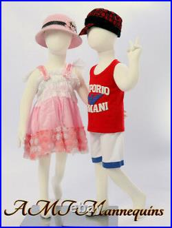 Two Mannequins, Display full body flexible kids girl/boy, 2 Children-R8