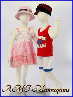 Two same child Mannequins, about 4 years old, 2 full body flexible manikins-R6