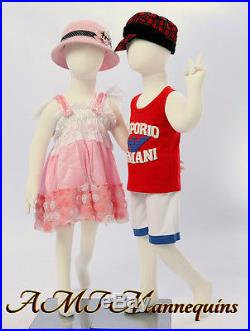 Two same child Mannequins, for X'mas display abt 3 years old, flexible manikins-R4