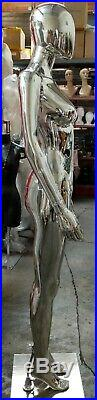 USED MN-BC 1 pc Chrome Silver Metallic Female Plastic Mannequin with Base