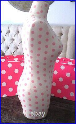 Victoria's Secret PINK Polka Dot Dress Form Store Display Mannequin RARE