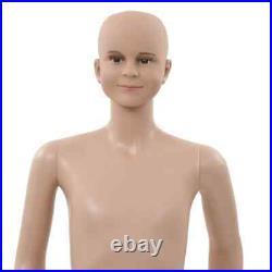 VidaXL Full Body Child Mannequin with Glass Base Beige 55.1 Indoor Display