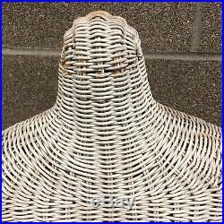 Vintage1960's Wicker Woman Torso Model Mannequin Female Body Dress Form