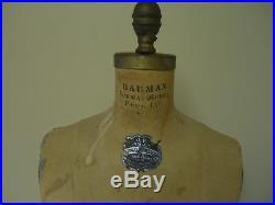 Vintage 1962 Jr Bauman Normal #7 Model Dress Form Mannequin Collaps-a-form Cage