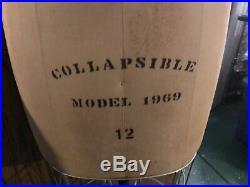 Vintage 1969 Wolf Dress Form Mannequin Size 12 Collapsible Cage Cast Iron Base